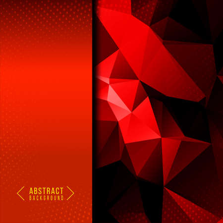 Abstract geometric red stylish background design vector
