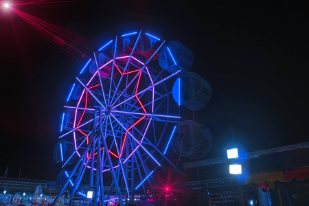 The most beautiful Ferris wheel at night.