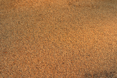 Sandy surface with small gravel on the floor and smooth surface of nature. Stock Photo