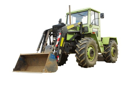 earthmover: Green earth-mover, isolated on a white background