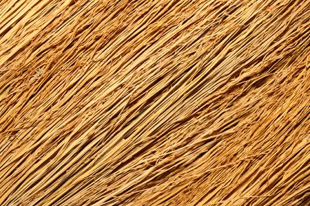 besom: Close-up of a broom texture. Stock Photo