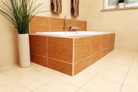 Bathtub in a modern bathroom. Stock Photo - 4733761