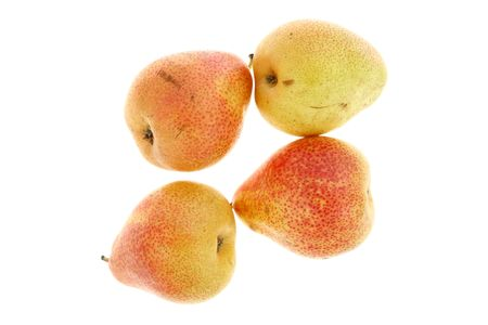 Four pears on a white background. Stock Photo - 4733428