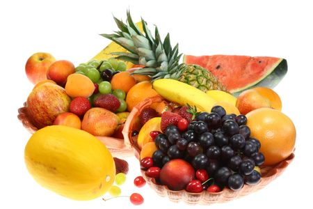 Fruits on a white background. photo