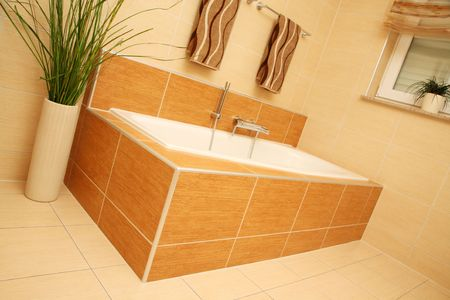 Bathtub in a modern bathroom. Stock Photo - 4808082