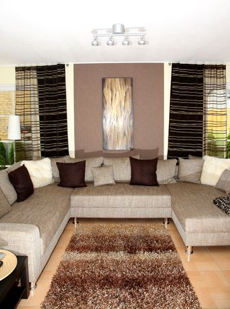 Interior of a modern living room. photo