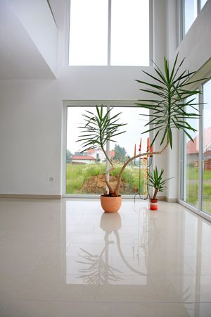Modern hall in a new home. photo