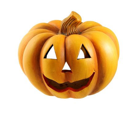 Halloween pumpkin, isolated on a white background. photo