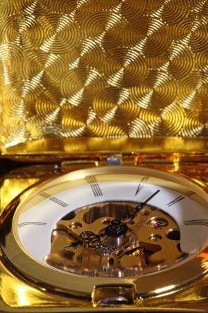 Mechanical antique pocket watch. photo
