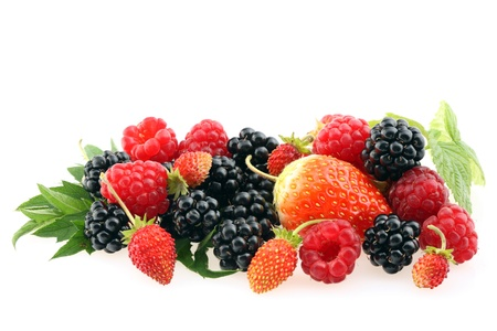 Fresh berries isolated on a white background. photo