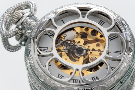 Part of a antique mechanical pocket watch. Stock Photo - 8672683