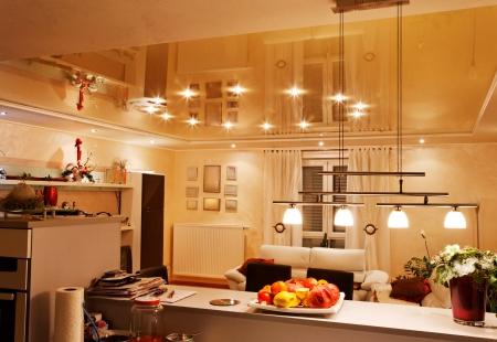 Details van de moderne keuken decoratie. royalty vrije foto