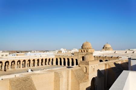 kairouan: Great Mosque of Sidi-Uqba in Tunisia.