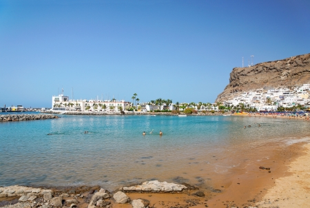 Beach in Puerto de Mogan, on island of Gran Canaria