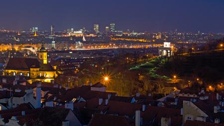 Mala strana in the nightt, Prague, Czech Republic Imagens
