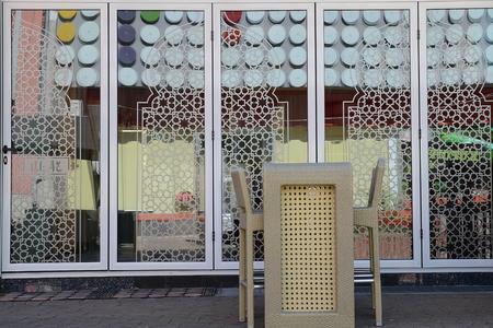hercegovina: Restaurant in Bihac. Bosna and Hercegovina. Stock Photo