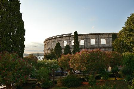 Historical Pula amfiteater  Croatia Stock Photo