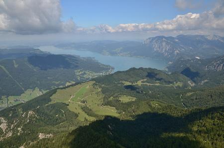 St. Wolfgang, Schafberg, Austria View from top of Schafberg peak, Alpen mountains