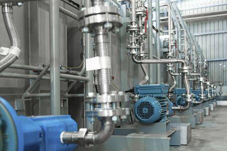 Additive pump station in petrochemical technology Фото со стока