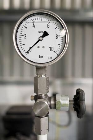 Hydraulic manometer on the instalation site, Czech Republic