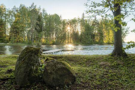 Daugava river in Kegum during summer