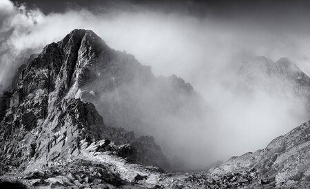 Top of Posredni granat, High Tatra, Poland Фото со стока