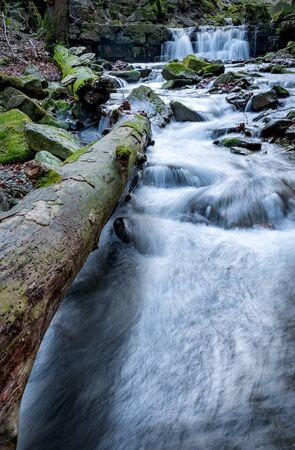 Satina creek with waterfals, Czech Republic Фото со стока