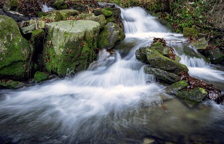 Satina creek with waterfals