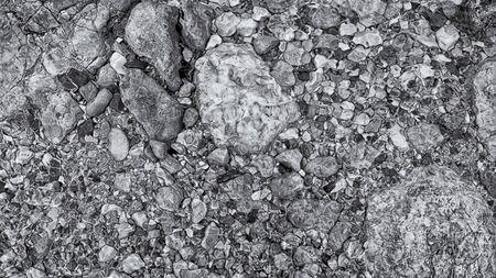Limestone pebbles in a clear wild river, Slovakia
