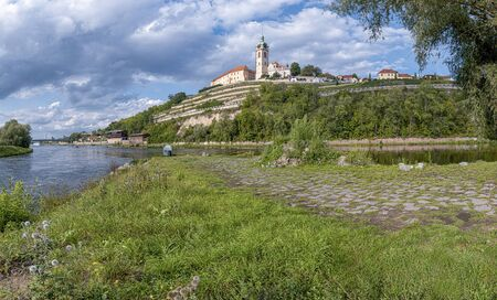 Panorama of Melnik city from Labe bank,Czech Republic