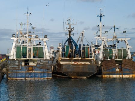 Fishing boats in Howth harbour, Ireland  Stock Photo