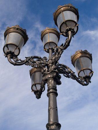 An ornate street lantern in Dublin photo