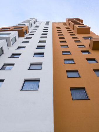 A tall modern multistory apartment block Stock Photo - 4317941