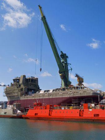 Hull tijdens de bouw werken