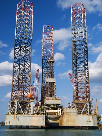 Sea Oil Rig Drilling Platform  Stock Photo