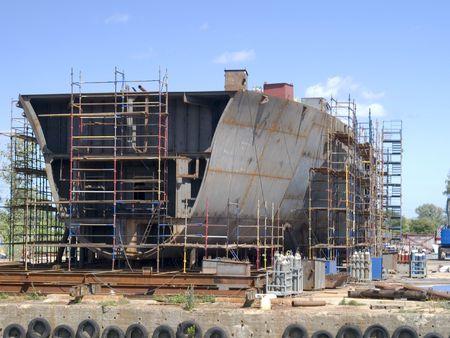 Hull tijdens bouw werken