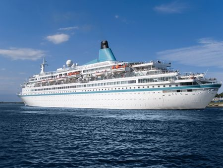 ship bow: Luxury cruise ship