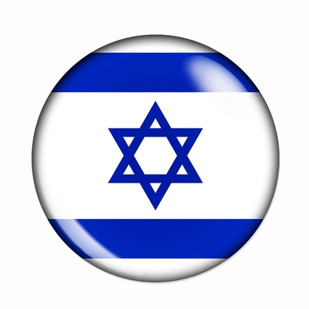 Circular,  buttonised flag of Israel photo