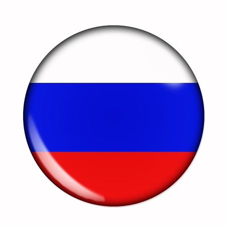 russia flag: Circular, buttonised flag of Russia