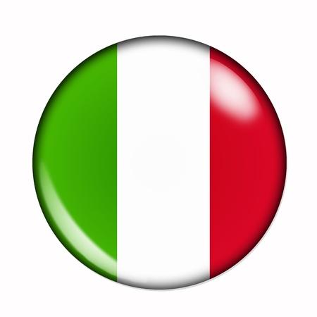 Rond, buttonised vlag van Italië