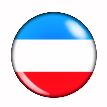 Circular, buttonised flag of Luxembourg photo