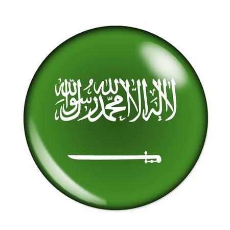 arabia: An isolated on white flag of Saudi Arabia