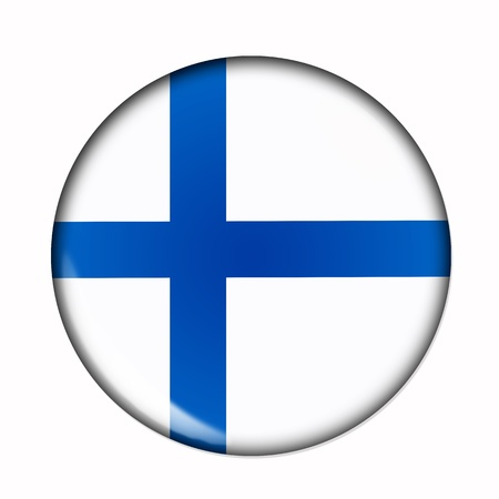 Circular,  buttonised flag of Finland photo
