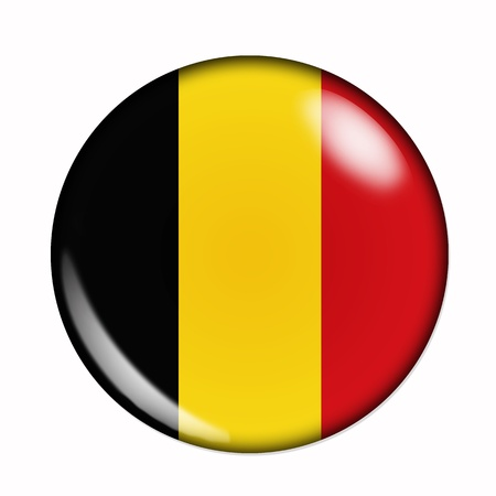 Circular,  buttonised flag of Belgium photo