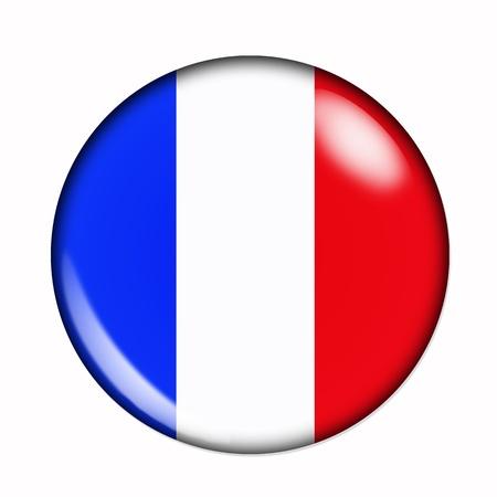 Circulaire, Buttonised vlag van Frankrijk Stockfoto