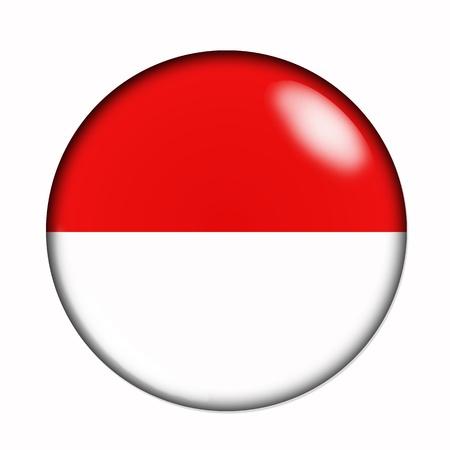 monaco: Circular, buttonised flag of Monaco Stock Photo