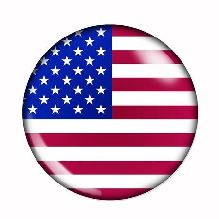 Circulaire, buttonised vlag van Verenigde Staten van Amerika
