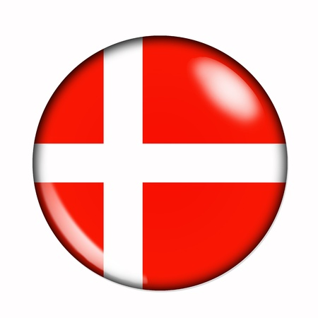 Circular,  buttonised flag of Denmark photo
