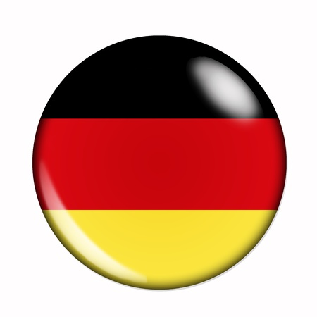 Circular, buttonised flag of Germany photo