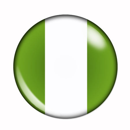 Circular,  buttonised flag of Nigeria photo